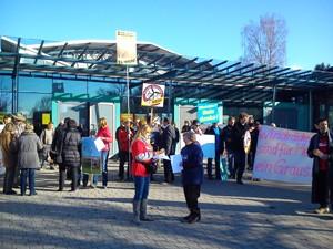 Protest vor Kreistagssitzung