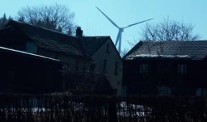 Windräder gleich hinterm Haus