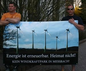 Messbach Vogtlandkreis Banner gegen WEA